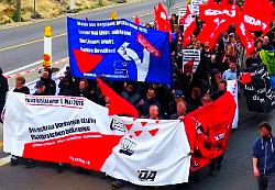 1. Mai 2016 - Revolutionäre Mai-Demo Nürnberg - An den Rampen