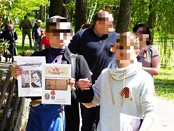 9 Mai am Südfriedhof - День Победы - Bild3 mit Nachkommen von in Nürnberg beerdigten russichen Kriegsgefangenen.