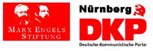 Logos der Marx-Engels-Stiftung und der DKP