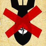 SDAJ-Banner gegen Atomwaffen