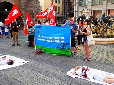 Foto: Kundgebung vom Jujendbündnis zum Antikriegstag