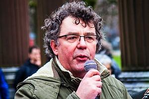 Bild: Patrik Köbele, der Vorsitzende der Deutschen Kommunistischen Partei - DKP