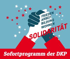 Banner für das Sofortprogramm der DKP