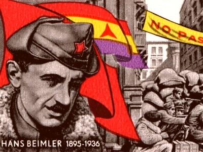 Bild: Hans Beimler auf einer DDR-Briefmarke
