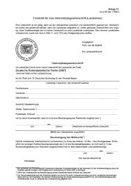 Bild: Formblatt für die Unterstützungsunterschriften