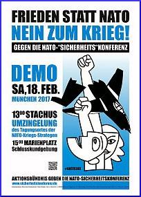 Banner: Aufruf zur Demo gegen die SIKO in München