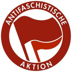 """Logo: Antfaschistische Aktion zur Illustration des Artikels """"Am rechten Auge blind"""""""