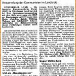 Ausriss: Pegnitzzeitung berichtet über Jahresabschlußfeier 2016 der DKP Nürnberg Land