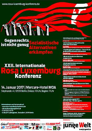 Plakat: Rosa-Luxemburg-Konferenz 2017