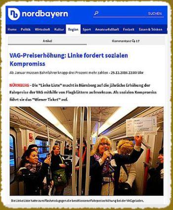 Screenshot von obigem Artikel zum Flashmob