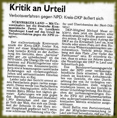 Bild: Antrag der DKP Nürnberger-Land auf Umbenennung einer Straße