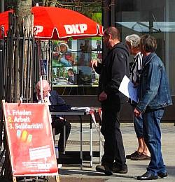Bild: Info-Stand in Röthenbach