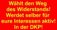 Banner: Wählt den Weg des Widerstands!