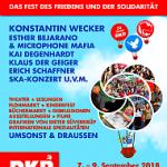 Plakat zum UZ-Pressefest 2018