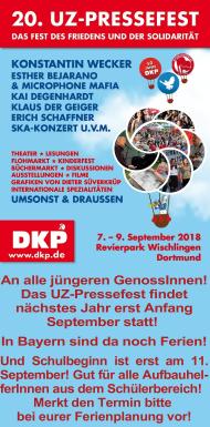 Banner: 20. UZ-Pressefest 2018