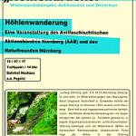 Flugblatt mit Einladung zur Wanderung zur Höhlendruckerei