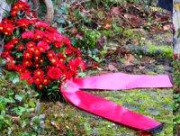 Bild: Rote Blumen für Liebknecht