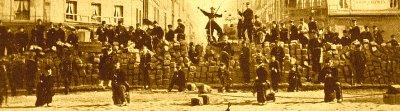 Barricade der Commune von Paris