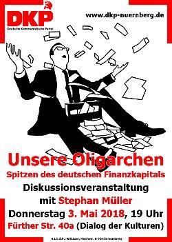 Plakat: Unsere Oligarchen - Spitzen des deutschen Finanzkapitals