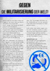 Flugblatt zum Jugendblock am Ostermarsch