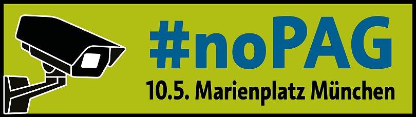 Banner: Demo gegen das Polizeiaufgabengesetz in München