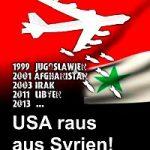 Banner: USA raus aus Syrien