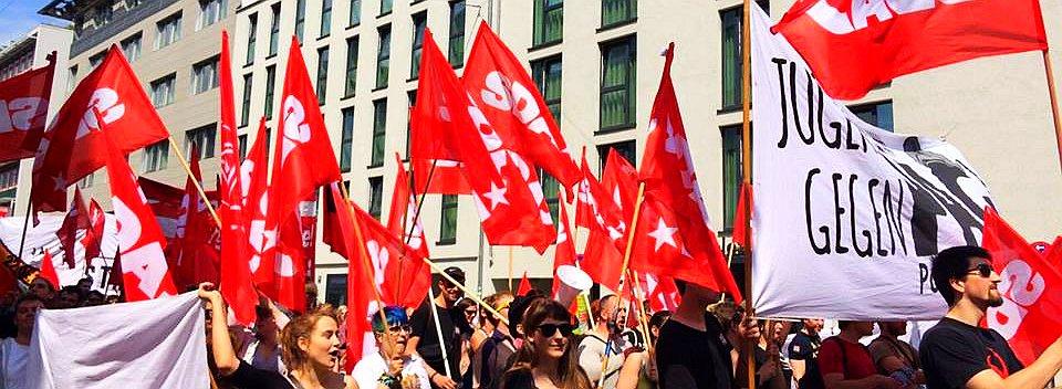 Demobild: SDAJ gegen PAG