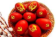 Bild: Kommunistische Ostereier - DKP zum Ostermarsch 2020