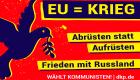 Slider: EU-Wahl - EU ist Krieg!