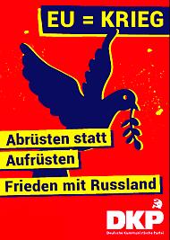 Plakat: EU = KRIEG
