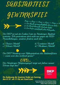Plakat: Südstadtfest Gewinnspiel