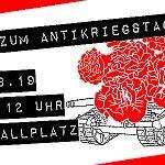 Banner: Antikriegstag 2019