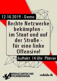Plakat: Rechte Netzwerke bekämpfen