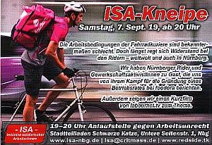 """Postkarte zur ISA-Veranstaltung über die """"Rider"""""""