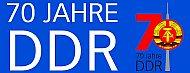 Banner: 70 Jahre DDR
