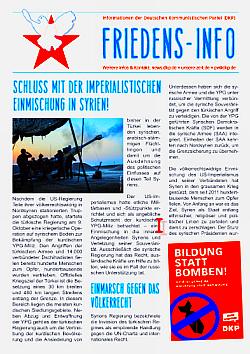 Bild: Das Friedens-Info – Schluss mit der imperialistischen Einmischung in Syrien!