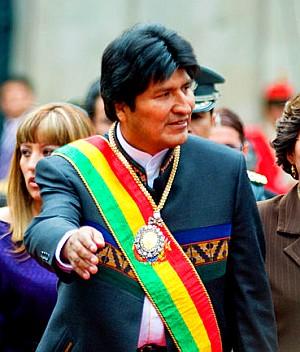 Evo Morales, Bolivien