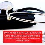 Bild: Sofortmaßnahmen zum Schutz der Gesundheit und Rechte der Völker - Gemeinsame Stellungnahme kommunistischer und Arbeiterparteien