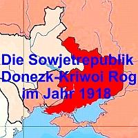 Karte der Sowjetrepublik Donezk - Kriwoi Rog - Stoppt den Krieg im Donbass!