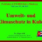 Veranstaltung mit Dr. Edgar Göll zu Kuba