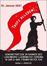 Plakat: LLL-Demo 2021 – trotz alledem!