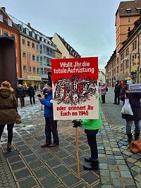 Foto - Aktionstag gegen die erneute Erhöhung des Rüstungsetats
