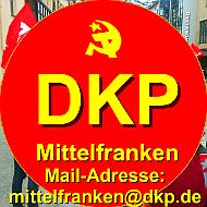 Logo mit Mailadresse Kreis Mittelfranken der DKP