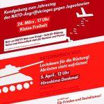 Plakat: Friedenskundgebung in Fürth