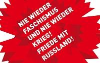 Banner: 8. Mai - Tag der Befreiung von Faschismus und Krieg