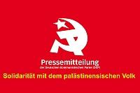 Banner: PressemitteilungSolidarität mit dem palästinensischen Volk