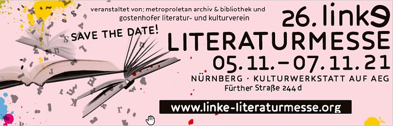 Banner - Bild: 26. Linke Literaturmesse in Nürnberg